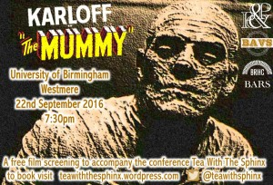 """""""Tea with the Sphinx"""" """"Mummy"""" screening poster (copyright Tea with the Sphinx)"""