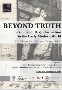 Poster advertising the OxDisinfo conference